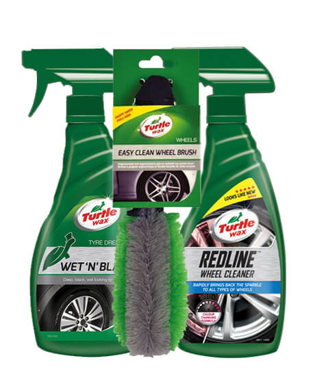Clean Wheels Package Deal Velgenreiniger Bandenglans En Velgenborstel